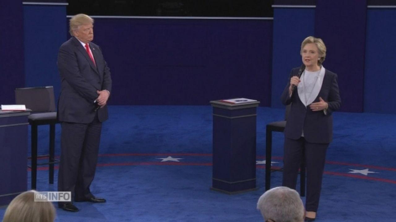 Les échanges virulents de Trump et Clinton sur fond de scandales sexuels [RTS]