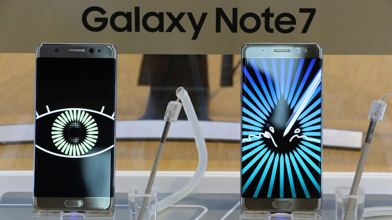 Samsung a annoncé l'arrêt total de la production du Galaxy Note 7. [AP Photo/Lee Jin-man - key]