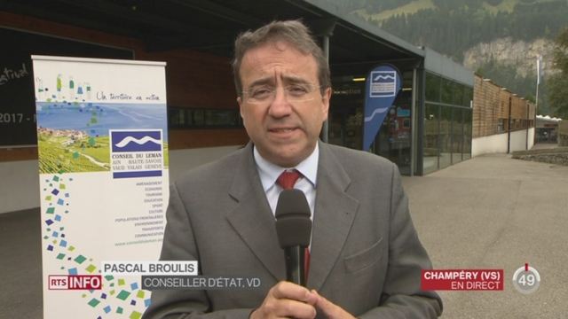 Etude sur les frontaliers dans la région lémanique: le point avec Pascal Broulis, Conseiller d'Etat (VD) [RTS]