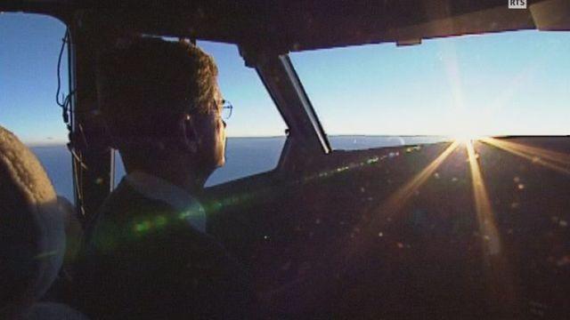 Le dernier vol de Swissair en 2002. [RTS]
