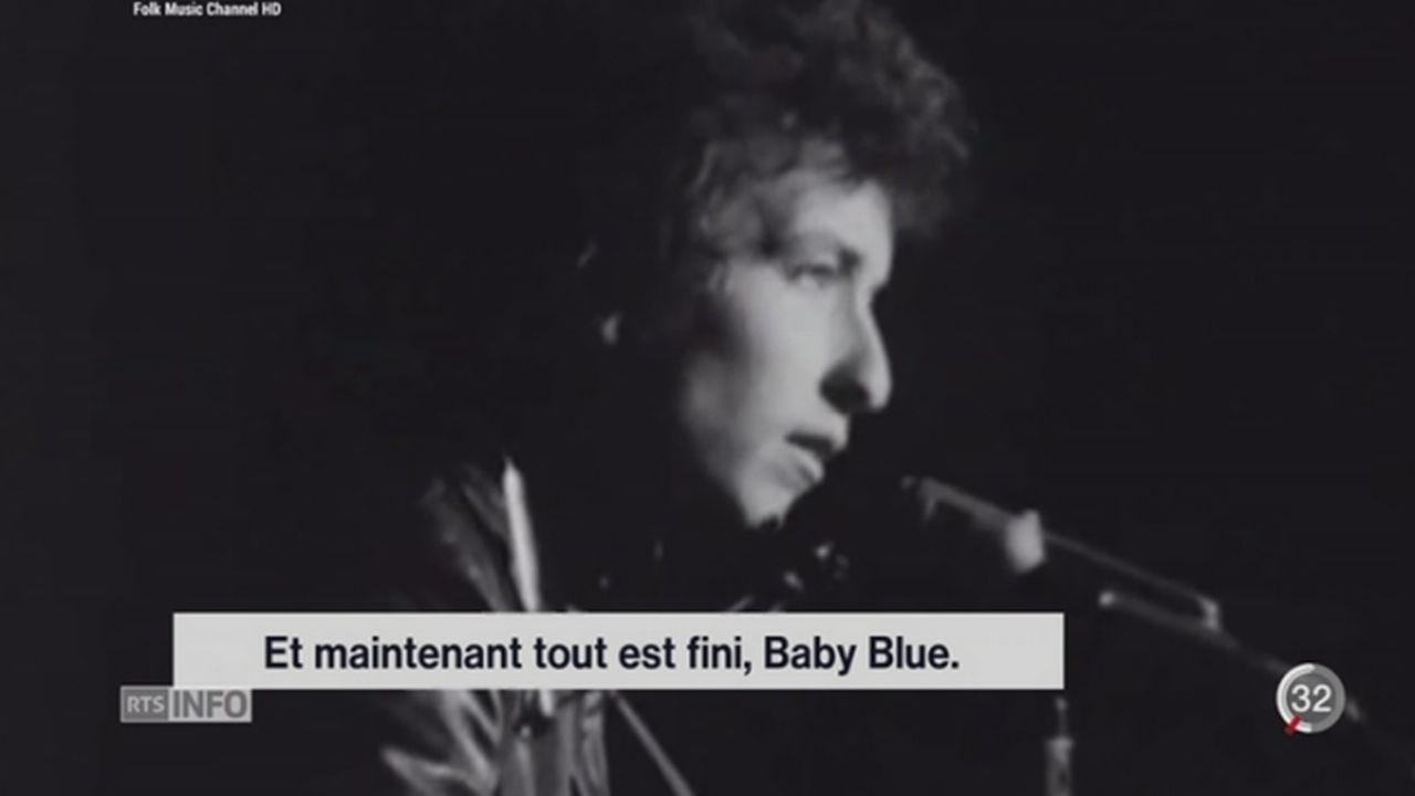 Le Prix Nobel de Littérature a été décerné à Bob Dylan [RTS]