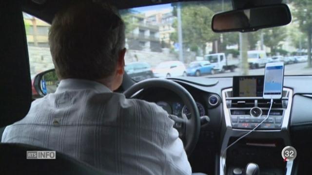 Genève devient le premier canton suisse à fixer un cadre légal aux activités des chauffeurs d'Uber [RTS]