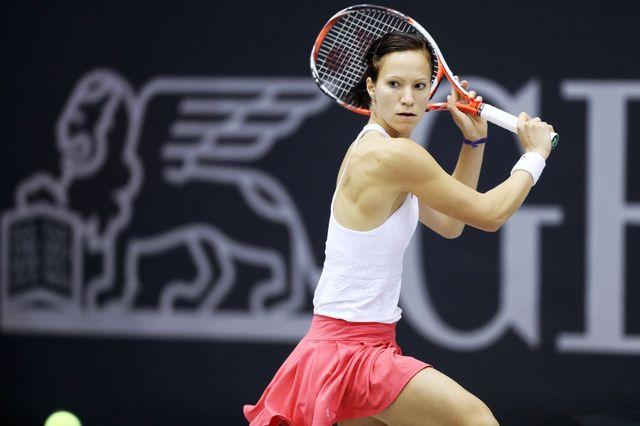 Viktorija Golubic n'a rien pu faire face à Cibulkova en finale. [Matthias Hauer - EQ]