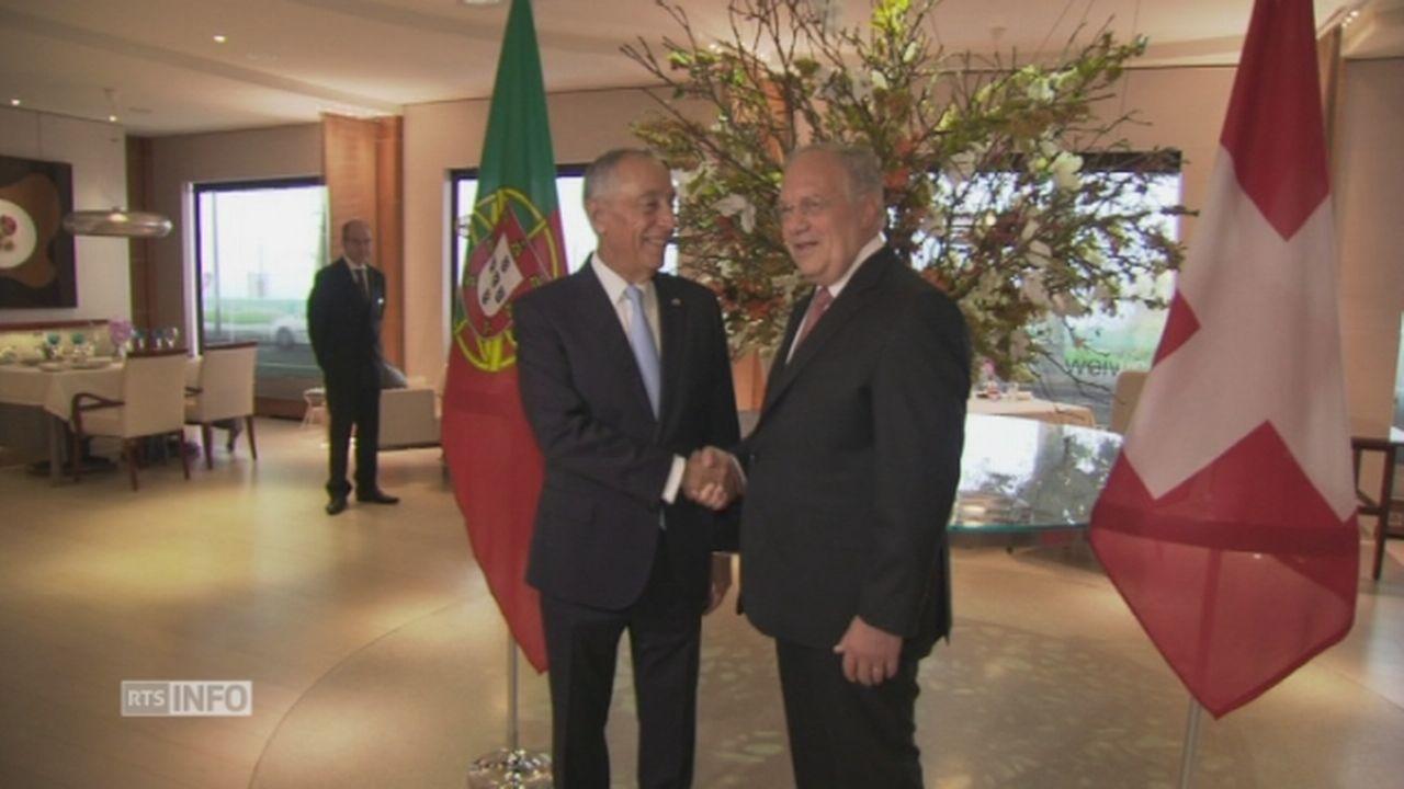 Les présidents portugais et suisse se rencontrent à Genève [RTS]