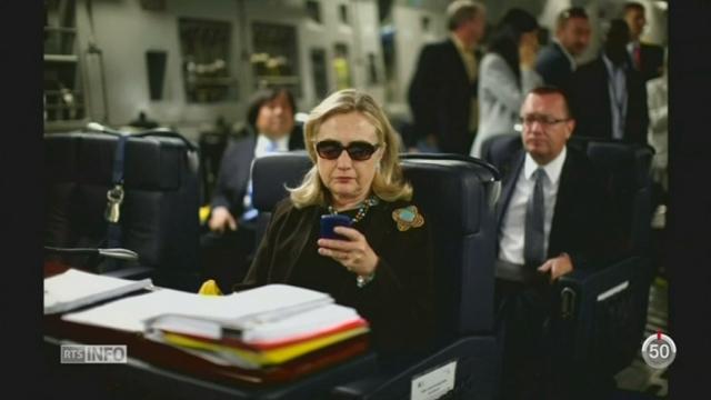 Etats-Unis: Hillary Clinton fait à nouveau face à une affaire d'emails [RTS]