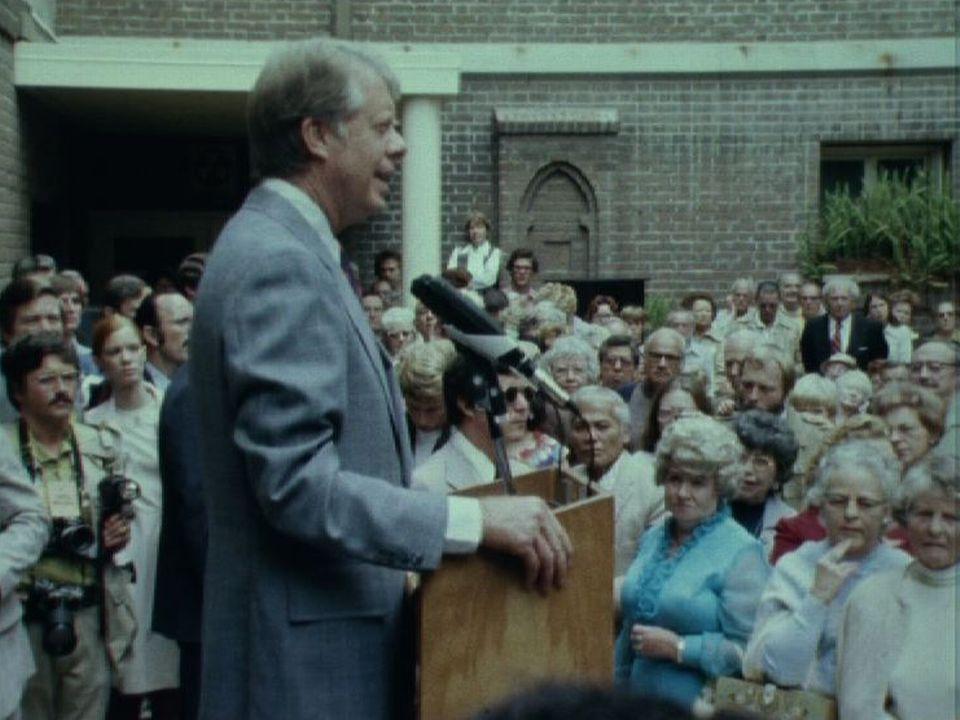 Jimmy Carter en campagne électorale en 1976. [RTS]