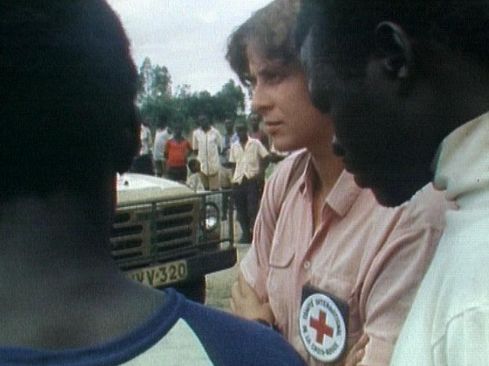 Christiane Probst, infirmière au CICR. [RTS]