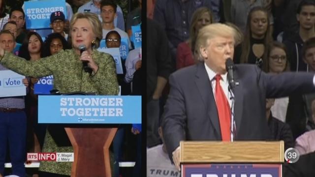 Présidentielle américaine: le New York Times attribue 91% de chance de victoire à Hillary Clinton [RTS]
