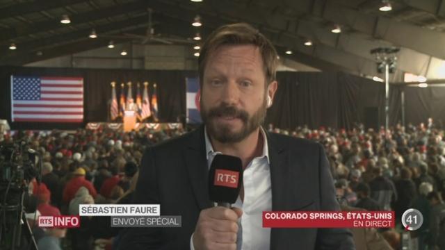 Présidentielle américaine - Polémique sur Trump et le sexe: le point avec Sébastien Faure, à Colorado Spring [RTS]