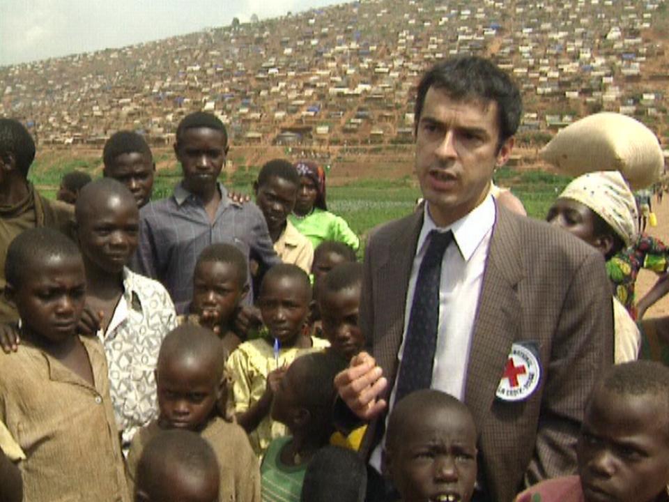Philippe Gaillard, délégué du CICR au Rwanda en 1994. [RTS]
