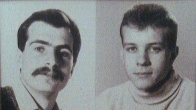 Emanuel Christen et Elio Erriquez, membres du CICR et otages durant 10 mois au Liban. [RTS]