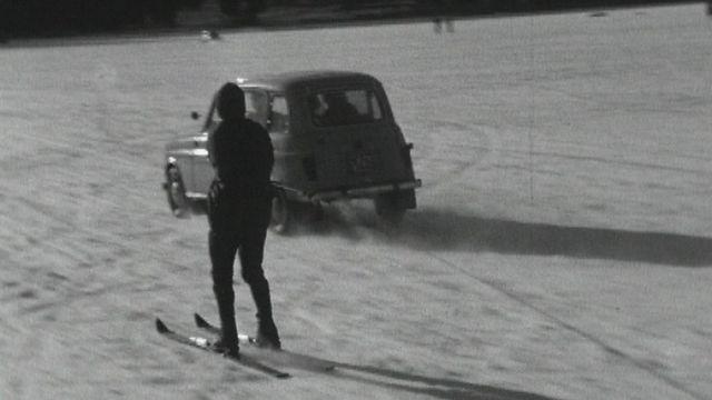 Elan de liberté sur le lac gelé, Lac Noir 1964. [RTS]