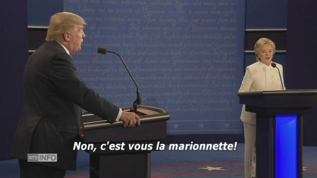 Les meilleurs moments du troisième et dernier débat entre Hillary Clinton et Donald Trump [RTS]