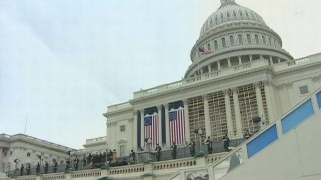 Répétition générale pour l'investiture du président Barack Obama. [RTS]