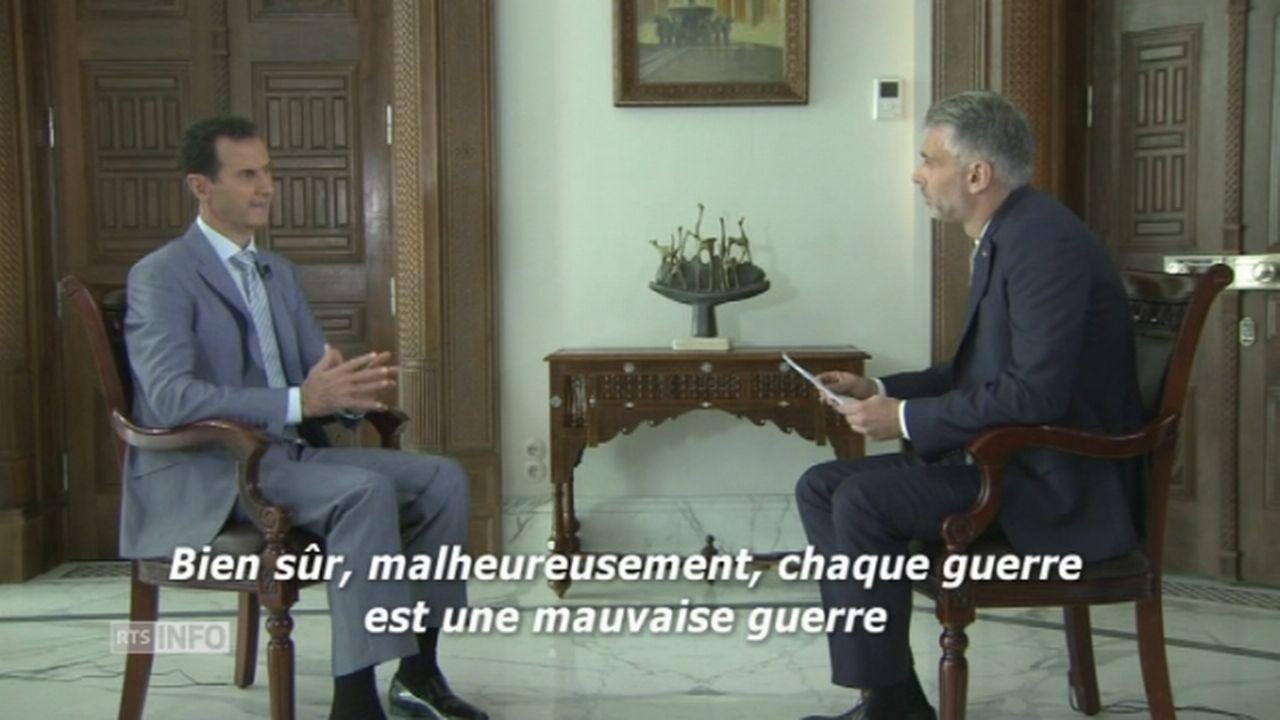 Extrait de l'interview de Bachar al-Assad par SRF [RTS]
