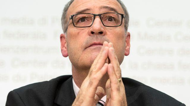 Le conseiller fédéral Guy Parmelin. [Keystone]