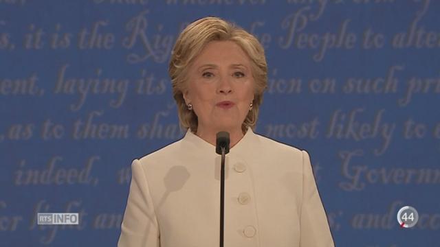 Débat Clinton-Trump: Donald Trump refuse de dire s'il acceptera l'issue de l'élection [RTS]