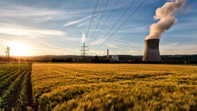 La centrale nucléaire de Leibstadt, dans le canton d'Argovie, en 2011. [Alessandro Della Bella - Keystone]