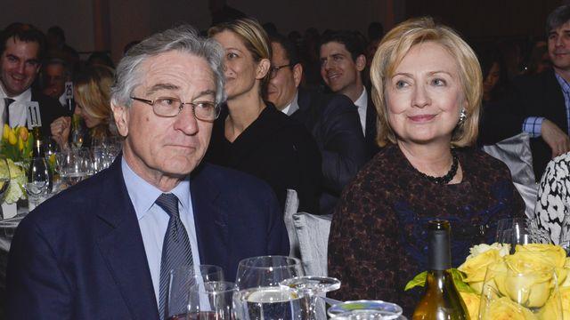 L'acteur Robert De Niro et la candidate démocrate à la Maison Blanche Hillary Clinton. [Eugene Gologursky / Getty Images - afp]