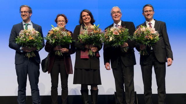 Les Verts conservent leur siège à l'exécutif à l'issue du premier tour des élections cantonales à Bâle-Ville. [Georgios Kefalas - Keystone]