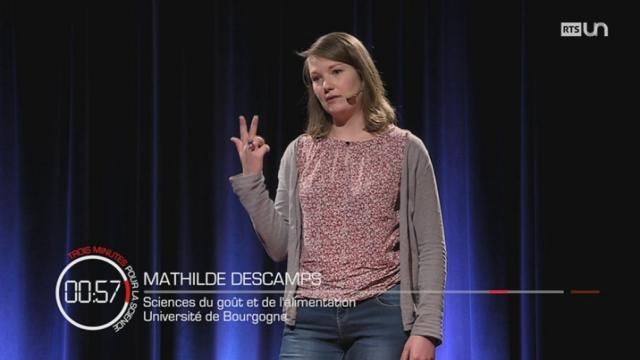 3 minutes pour la science : Mathilde DESCAMPS [RTS]
