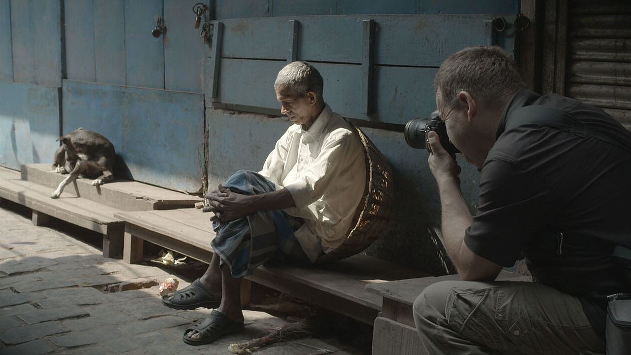 Benoît Lange en travail à Calcutta. [drjack.world]