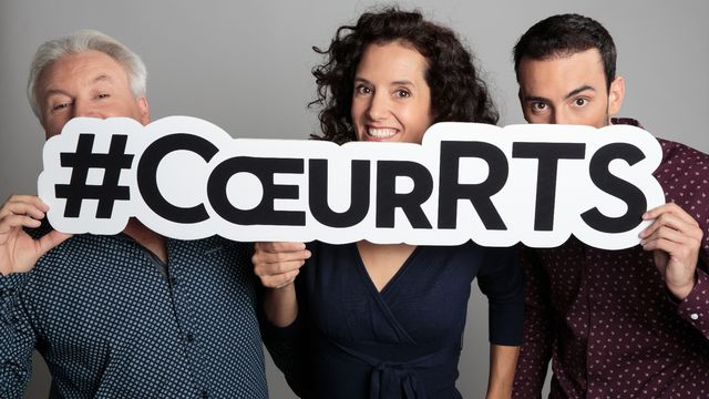 Sur les réseaux sociaux avec le hashtag #coeurRTS. [Anne Bichsel - RTS]
