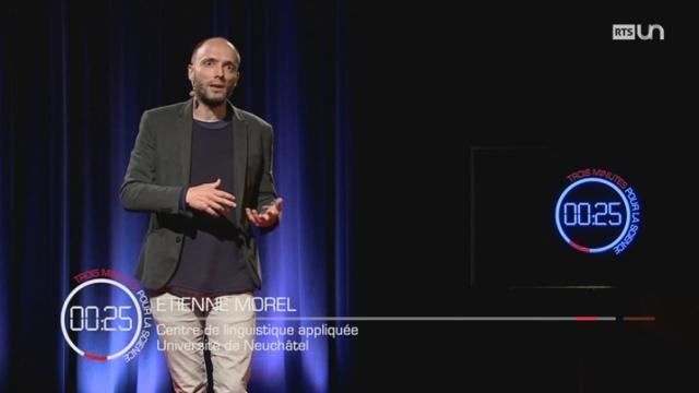 3 minutes pour la science : Etienne MOREL [RTS]