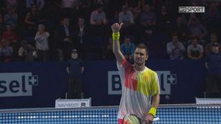 Bâle. 3e quart de finale. Stan Wawrinka (SUI) – Mischa Zverev (GER) (2-6 7-5 1-6). Les moments forts de la partie [RTS]