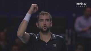 Bâle. 1-2 –finale. Mischa Zverev (GER) - Marin Cilic (CRO) (6-4 5-7 3-6). Fin de match haletante. Finalement, Cilic sera en finale face à Nishikori [RTS]
