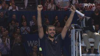 Finale, K. Nishikori (JPN) - M.Cilic (CRO) (1-6, 6-7): victoire pour le Croate Marin Cilic qui succède à Roger Federer [RTS]