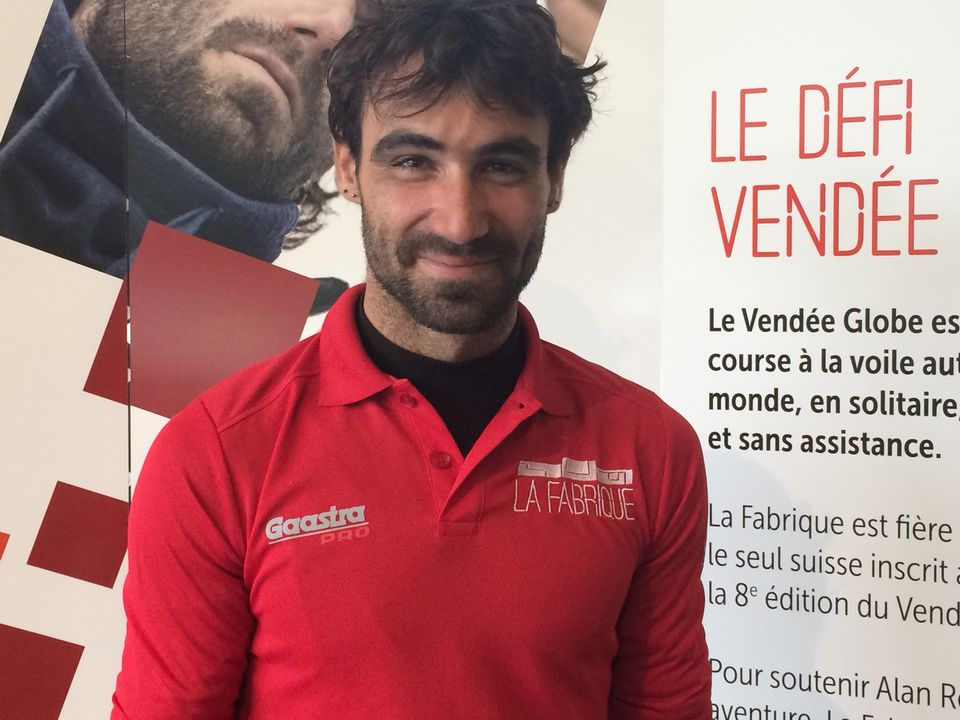 Alan Roura prendra part à son premier Vendée Globe. [F.Galaud - RTS]