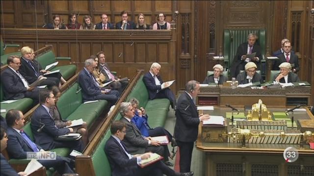 Le gouvernement devra obtenir l'accord des députés pour procéder au Brexit [RTS]