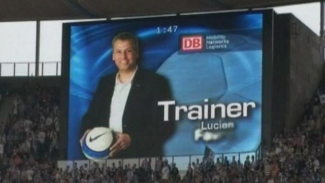 Lucien Favre entraîneur ai Herta Berlin en 2009 [RTS]