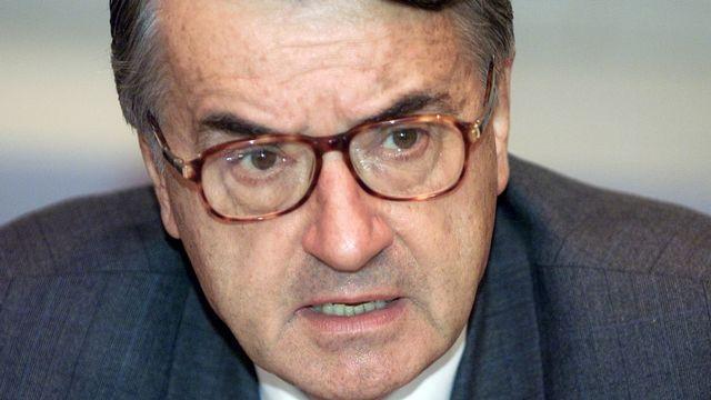 Bruno Pellaud, président d'honneur du Forum nucléaire suisse, ancien directeur général adjoint de l'Agence internationale de l'énergie atomique. [Lukas Lehmann - Keystone]
