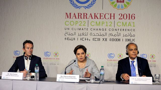 La COP22 est confrontée à la mise en oeuvre de l'accord de Paris. [Mohamed Messara - EPA/Keystone]