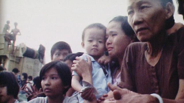 Les boat-people vietnamiens à bord du cargo Hai-Phong en 1978. [RTS]