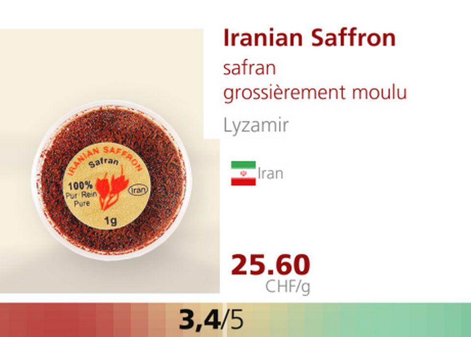 Iranian Saffron. [RTS]