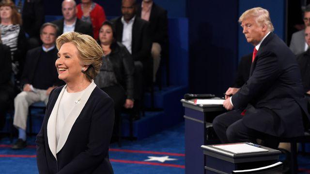 Hillary Clinton remporterait la confiance d'une majorité de personnes sur les réseaux sociaux, selon l'outil d'analyse Deeption. [Saul Loeb - AFP]