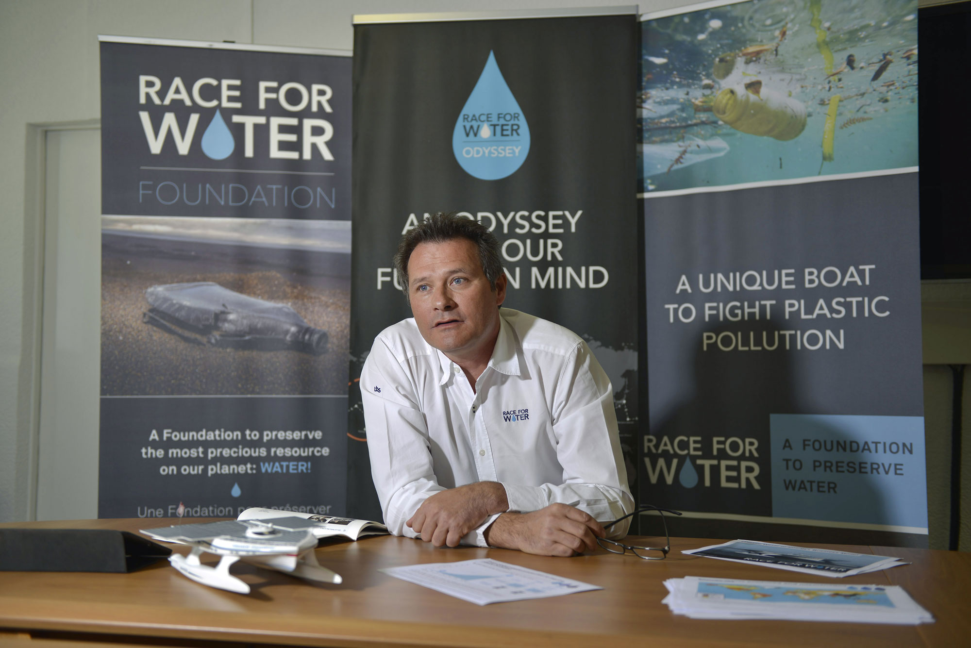 "Marco Simeoni, fondateur de ""Race for Water""."