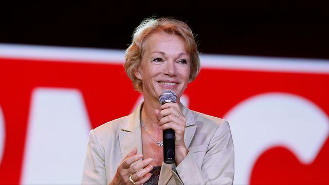 L'ex-actrice française Brigitte Lahaie devenue chroniqueuse radio et TV, en 2015. [THOMAS SAMSON - AFP]