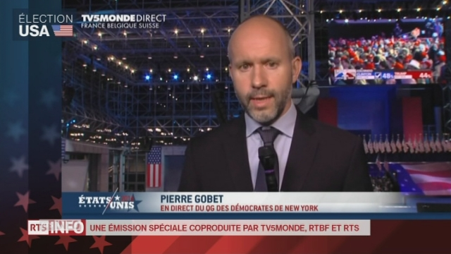 """Les mines s'allongent dans le camp Clinton"", analyse de Pierre Gobet en direct de New York"