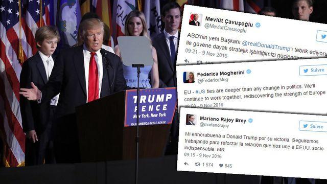 Réactions à la victoire de Trump. [Mary Altaffer - Keystone]