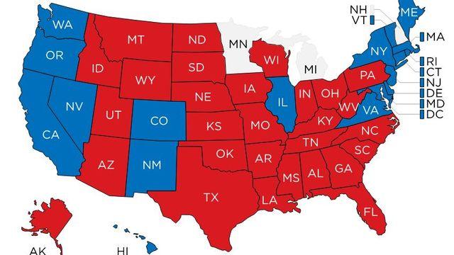 La carte des résultats.