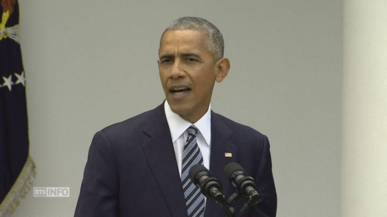 """Barack Obama: """"Nous assurer que la transition s'effectue dans les meilleures conditions"""" [RTS]"""