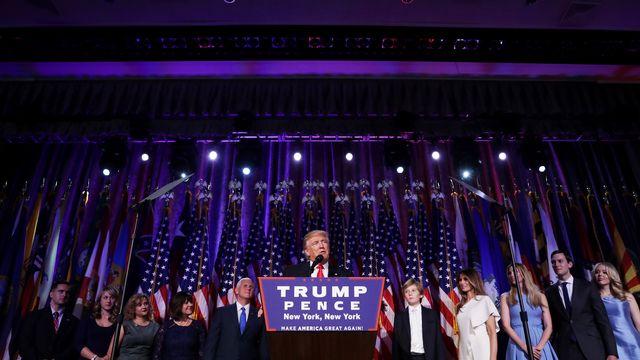 Le premier discours du président Donald Trump. [Chip Somodevilla / Getty Images - afp]