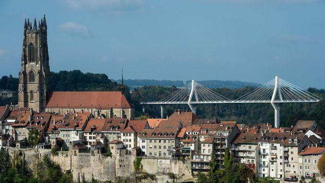La ville de Fribourg. [Jean-Christophe Bott - Keystone]