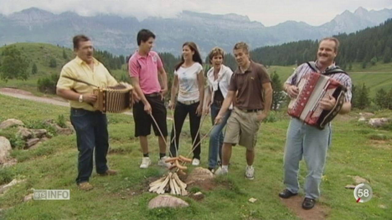 Mélanie Oesch et sa famille remportent un grand succès avec le groupe folklorique Oesch' s die Dritten [RTS]