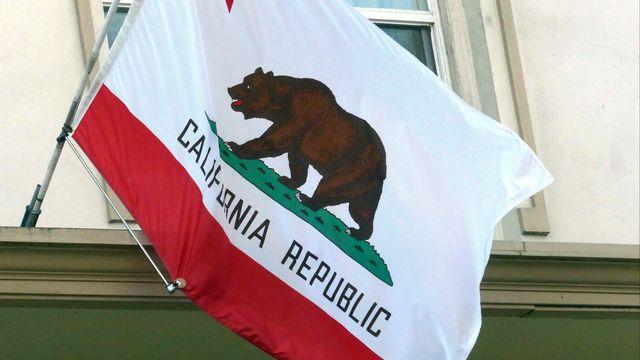 Le drapeau californien. [Barbara Munker - AFP]