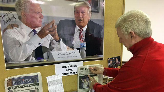 Le maire de Brook Park Tom Coyne, ancien démocrate, a apporté son soutien à Trump. [Jordan Davis - RTS]